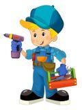 Mecânico dos desenhos animados - menino Fotografia de Stock