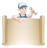 Mecânico e rolo dos desenhos animados Fotografia de Stock