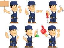 Mecânico forte Mascot 6 Imagem de Stock Royalty Free