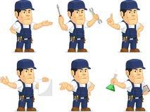 Mecânico forte Mascot 10 Imagens de Stock