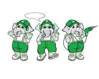 Mecânico Mascot do elefante Fotos de Stock