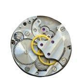 Mecânico velho do maquinismo de relojoaria Feche acima, tiro macro O vintage alinha vi fotografia de stock royalty free