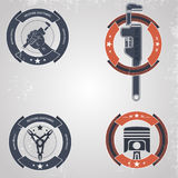 Mecânicos do emblema Imagens de Stock Royalty Free