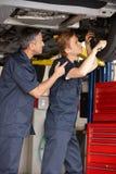 Mecânicos no trabalho Imagem de Stock Royalty Free
