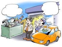 Mecanic świstek od starych samochodów royalty ilustracja