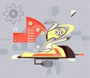 Mecanismo abstractivo Fotografia de Stock