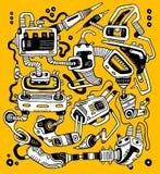 Mecanismo abstracto Imagen de archivo
