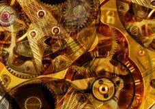 Mecanismo abstrato do relógio fotografia de stock royalty free