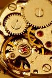 Mecanismo antiguo del reloj Imagen de archivo libre de regalías