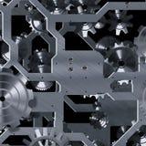 Mecanismo artificial del reloj Imagen de archivo libre de regalías
