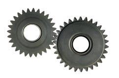 Mecanismo con las ruedas dentadas Fotos de archivo libres de regalías