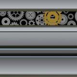 Mecanismo con los engranajes Ilustración del Vector