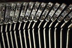 Mecanismo da máquina de datilografia, letras do metal Imagens de Stock