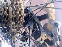 Mecanismo de engranaje de la bici Imagenes de archivo