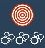 Mecanismo de engranaje de la rueda dentada Imagenes de archivo