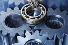 Mecanismo de engranaje en azul y sil Imagen de archivo libre de regalías