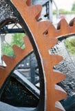 Mecanismo de engranaje original para criar a Murray Morgan Drawbridge de baja imagenes de archivo