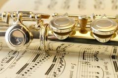 Mecanismo de la flauta imagen de archivo