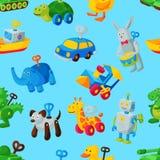 Mecanismo de la juguetería de la sala de juegos del mecánico del vector de la llave del juguete mecánico para el coche animal del stock de ilustración