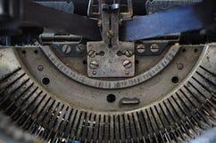 Mecanismo de la máquina de escribir Imagen de archivo libre de regalías