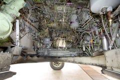 Mecanismo de la rueda de los aviones foto de archivo libre de regalías