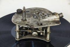 Mecanismo de los viejos gramophoneCircles del camino fotografía de archivo libre de regalías