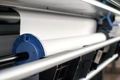 Mecanismo de papel del arroyuelo de la impresora profesional Fotografía de archivo libre de regalías