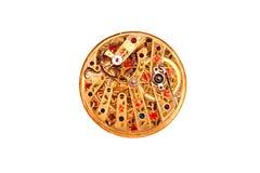 Mecanismo de relojería antiguo adornado Imágenes de archivo libres de regalías