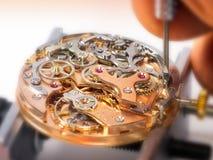 Mecanismo de relojería de Chronographe - Valjoux 23 Foto de archivo libre de regalías