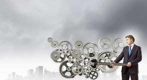 Mecanismo de trabalho Imagens de Stock Royalty Free
