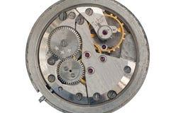 Mecanismo de un reloj viejo de Unión Soviética Imagenes de archivo