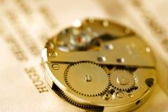 Mecanismo del reloj Imagen de archivo