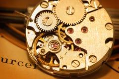 Mecanismo del reloj Imagenes de archivo