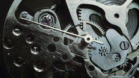 Mecanismo del reloj almacen de metraje de vídeo