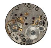 Mecanismo del reloj aislado Fotos de archivo