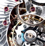 Mecanismo del reloj de bolsillo Imagenes de archivo