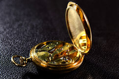 Mecanismo del reloj de bolsillo Imágenes de archivo libres de regalías