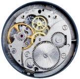 Mecanismo del reloj mecánico Imágenes de archivo libres de regalías