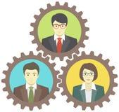 Mecanismo del trabajo en equipo stock de ilustración