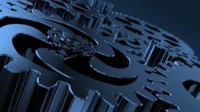 Mecanismo dirigido con las piezas y las conexiones de rotación Dentro de un motor almacen de metraje de vídeo