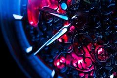 Mecanismo do Close-up do relógio Fotografia de Stock Royalty Free