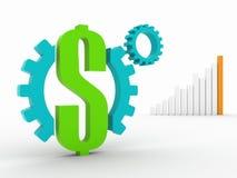 Mecanismo do dinheiro foto de stock