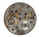 Mecanismo do relógio isolado Fotos de Stock