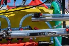 Mecanismo hidráulico para controlar da máquina de semear foto de stock