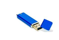 Mecanismo impulsor azul del pulgar del USB Foto de archivo