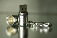 Mecanismo impulsor de acero del flash del usb Imagen de archivo libre de regalías