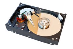Mecanismo impulsor de disco duro Imágenes de archivo libres de regalías