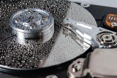 Mecanismo impulsor de disco duro. Imagen de archivo libre de regalías