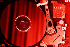 Mecanismo impulsor de disco duro abierto Imagen de archivo libre de regalías