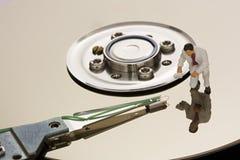 Mecanismo impulsor de disco duro abierto macro Imagen de archivo libre de regalías